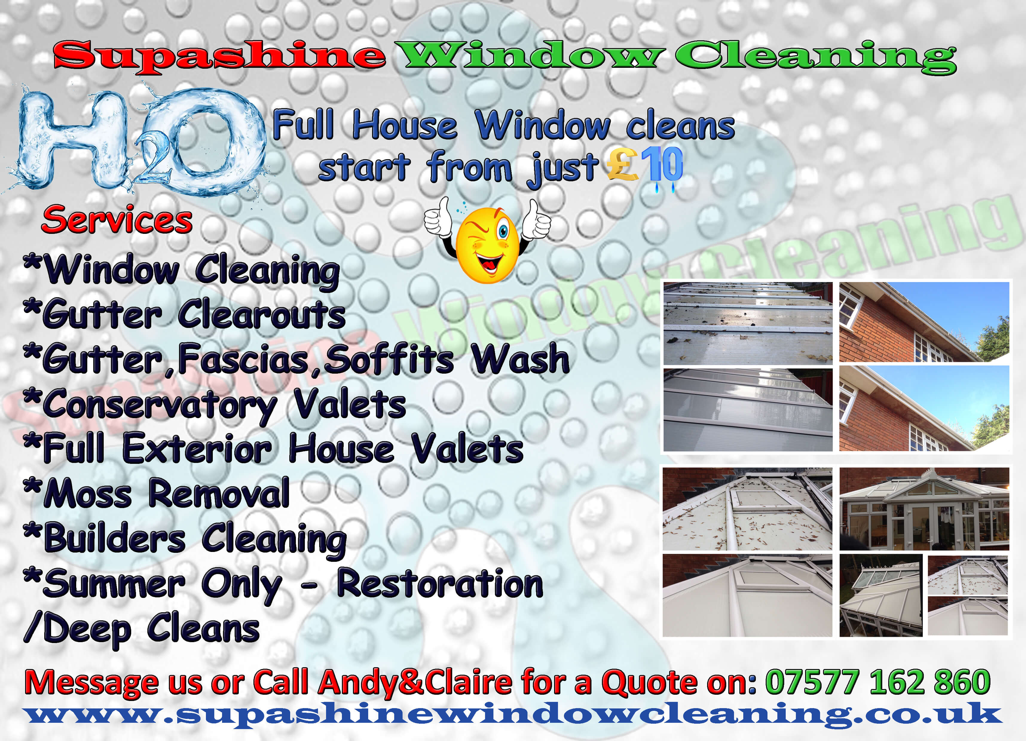 we use traditional water fed pole methods of cleaning we can clean in any weather with this system hard to reach windows are no problem