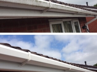 Gutter, fascia and soffit cleaning in Wolverhampton